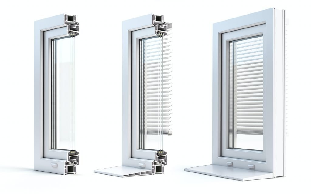 Aluminios Fuerteventura Sección transversal de PVC de perfil de ventanas